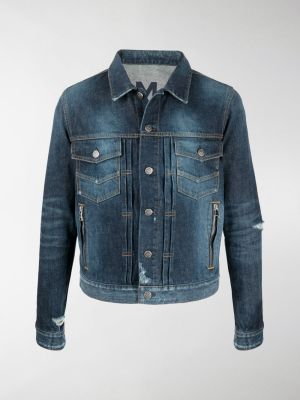 Balmain distressed-effect denim jacket