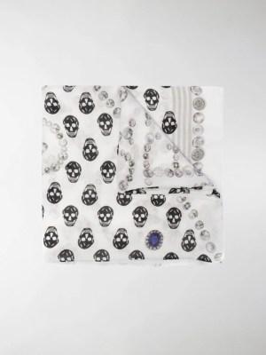 Alexander McQueen Biker Skull scarf