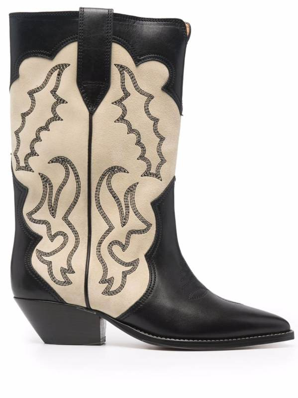 Isabel Marant Duerto two-tone cowboy boots