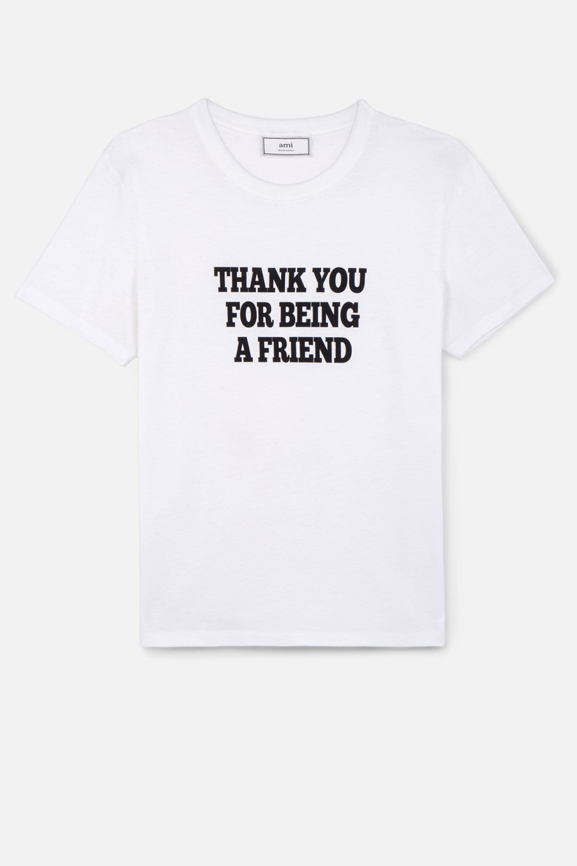 Ami Alexandre Mattiussi T Shirt With Print Thank You For