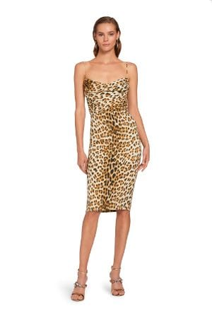 Abito con stampa Leopard