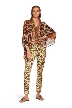 Jeans skinny con stampa Leopard