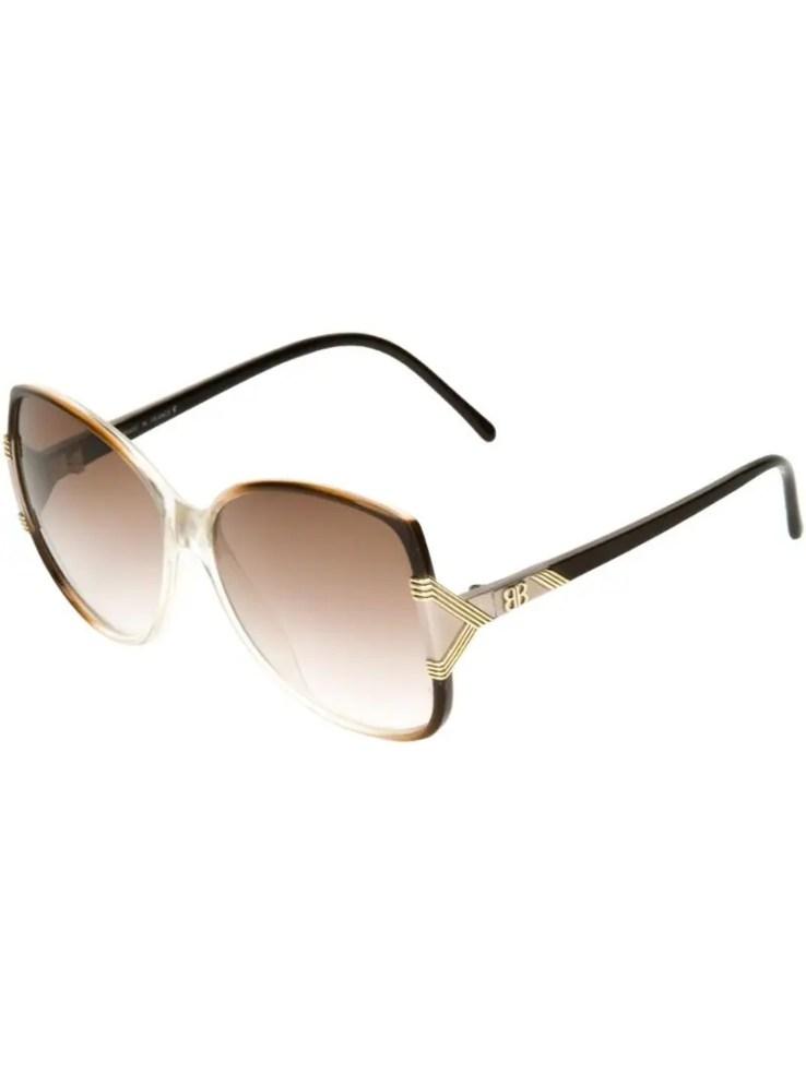 Balenciaga vintage bi-colour 80s sunglasses