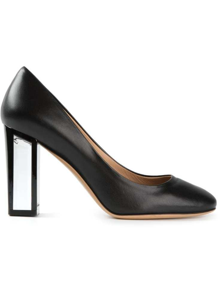 SALVATORE FERRAGAMO transparent heel pumps