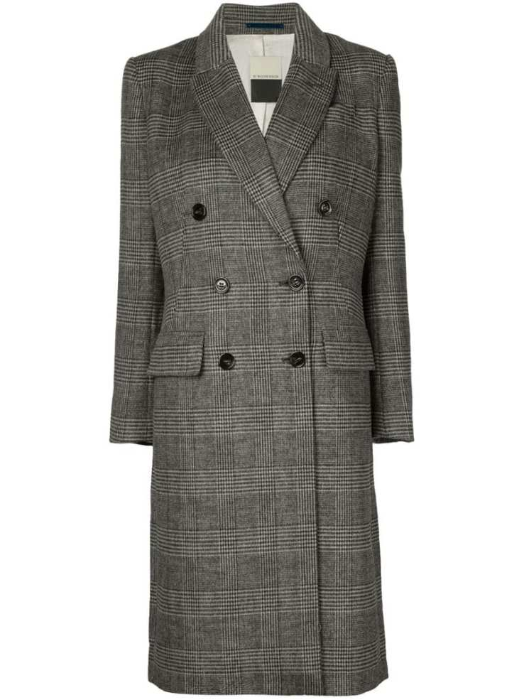 BY MALENE BIRGER plaid tweed coat
