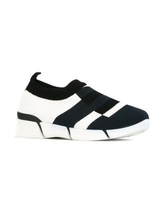 Stella McCartney knitted colour block sneakers