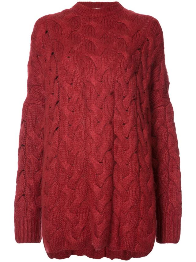 Ryan Roche - oversized cable knit sweater, $1635