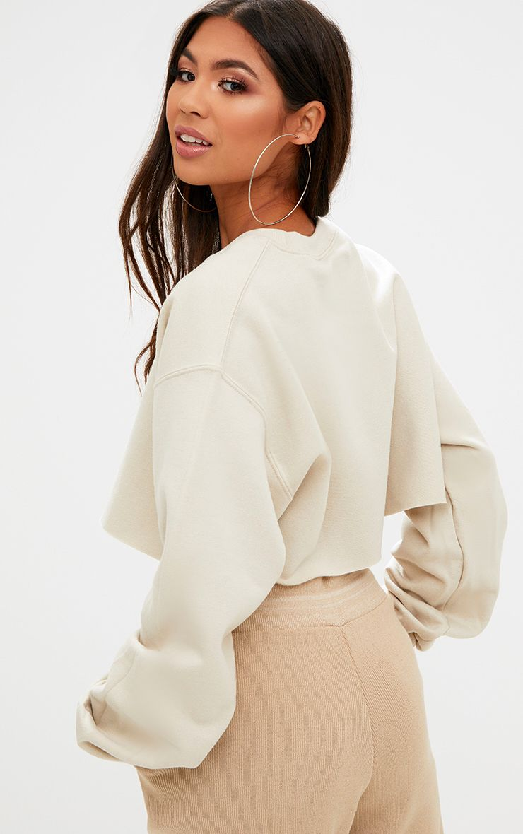 Sand Cropped Sweater