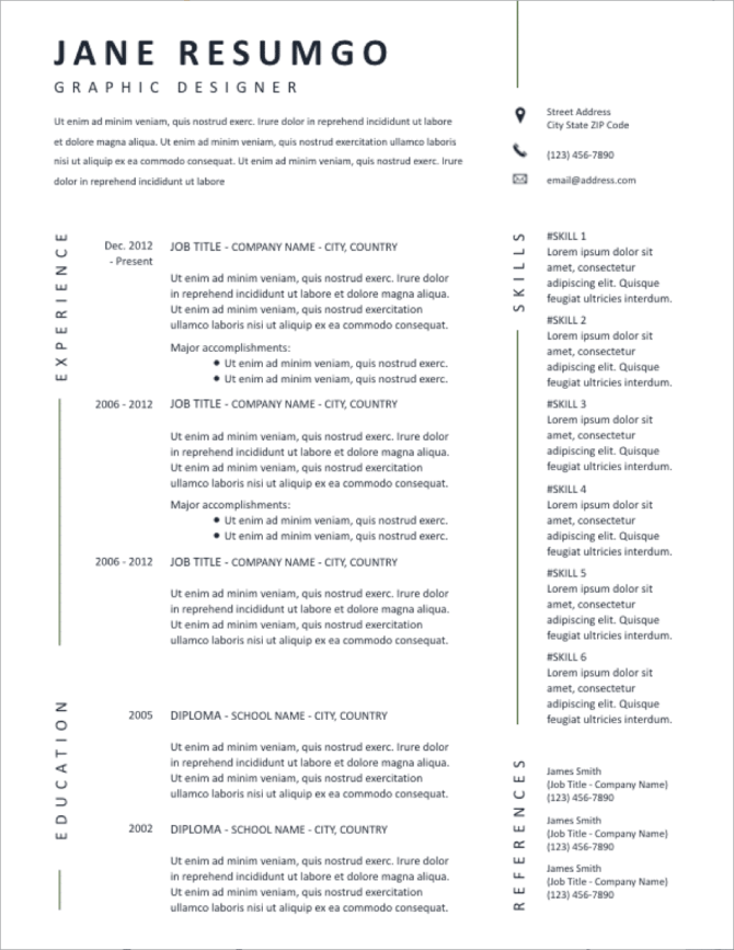 A resume is your introduction and. 50 Free Ms Word Resume Cv Templates To Download In 2021