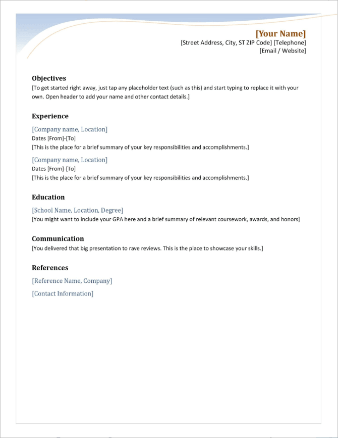 resume examples see perfect resume samples that get jobs. 50 Free Ms Word Resume Cv Templates To Download In 2021