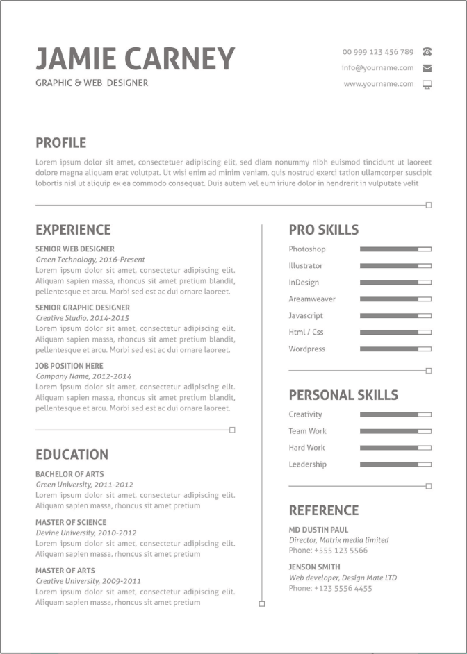 They're easy to use, 100% free, and you can download your resume to pdf, txt for microsoft word, and google drive. 50 Free Ms Word Resume Cv Templates To Download In 2021