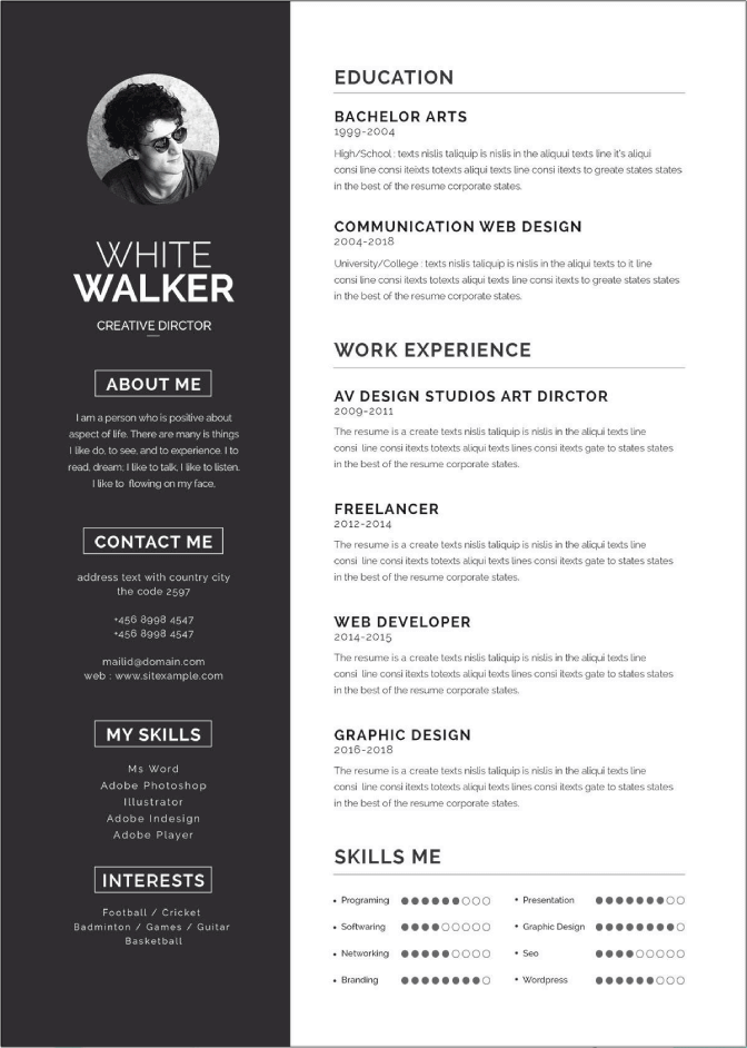 Make a killer first impression. 50 Free Ms Word Resume Cv Templates To Download In 2021