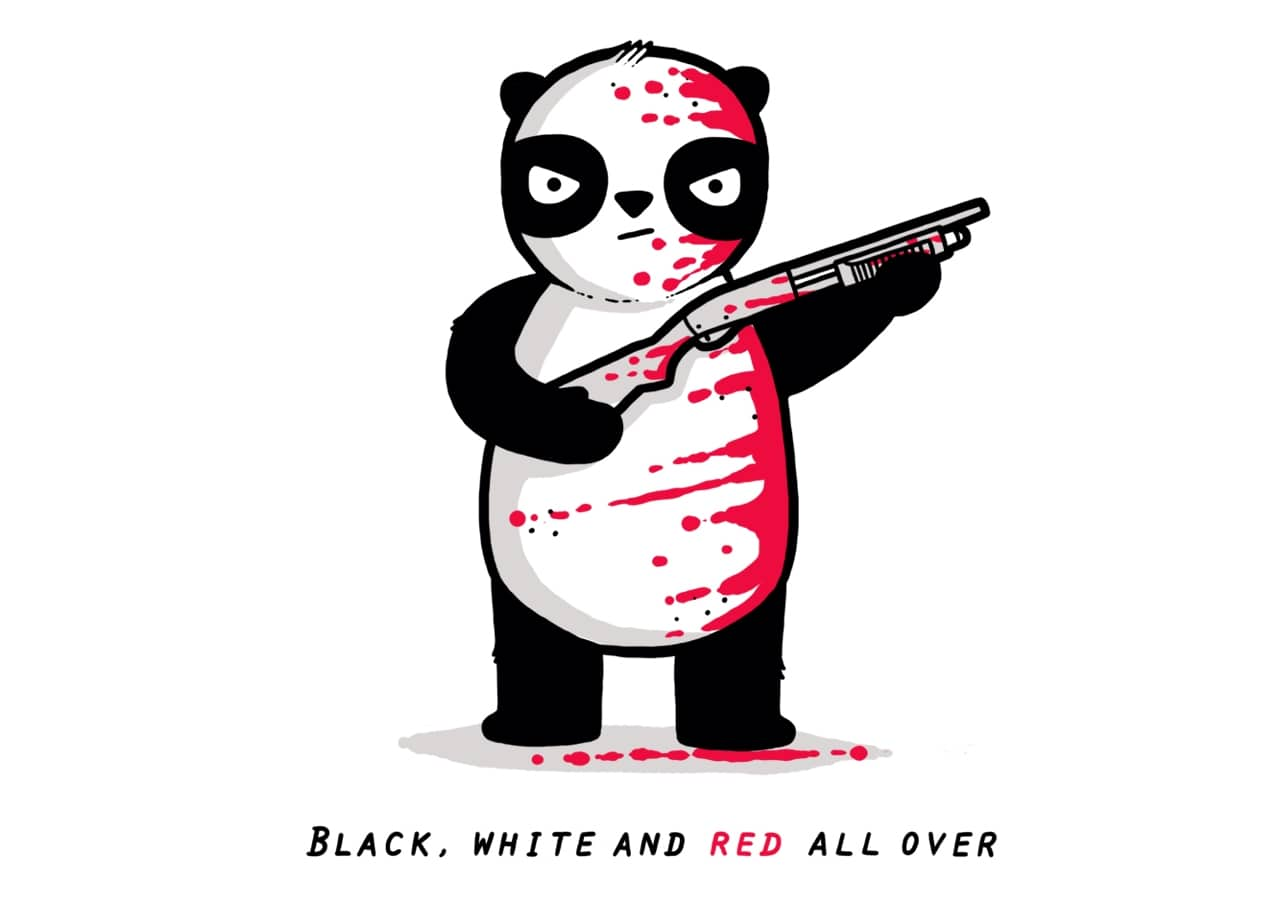 Black Red And White By Aaron Jay
