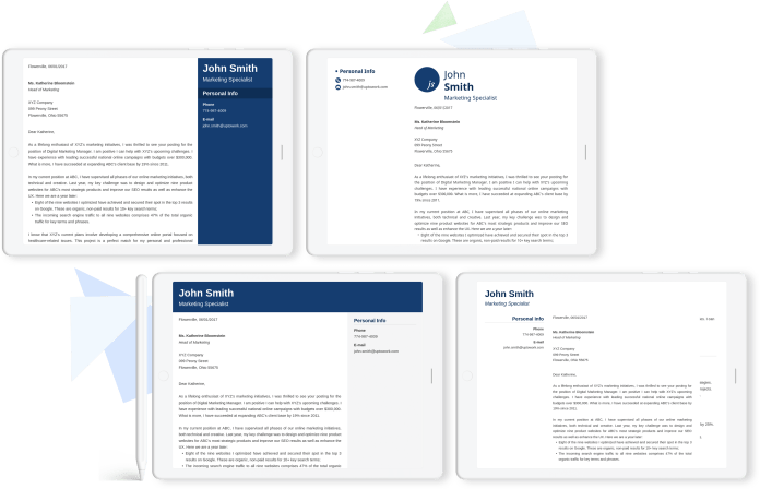 20 Cover Letter Templates To Download Free For Your Resume