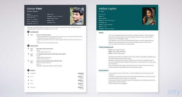 Biodata Format for Marriage & Job [Download MS Word Form]