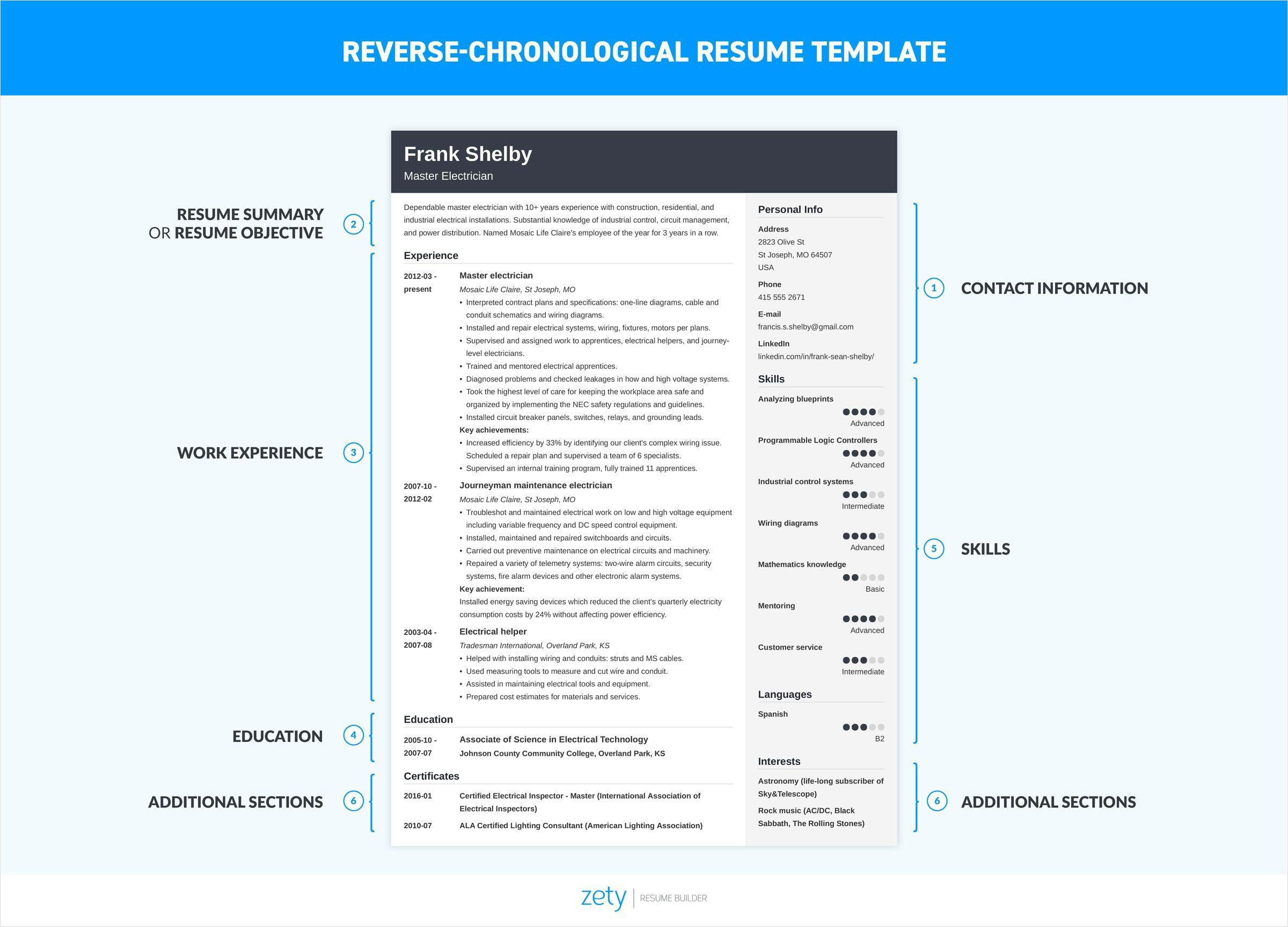 How To Make A Resume For A Job From Application To