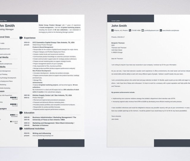 How To Write A Cover Letter And Resume Template For Marketing Example