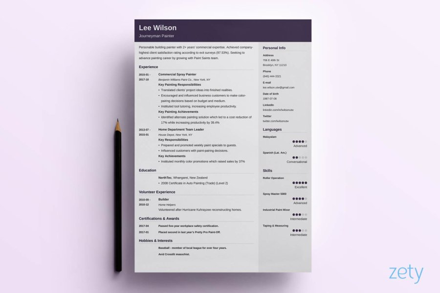 Creative Resume Templates  16  Examples to Download   Guide  knowledge focused creative resume template