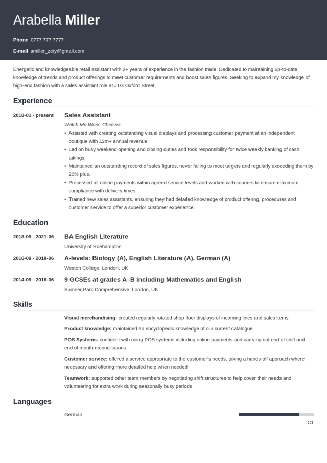 CV Education Section: Examples & How to Include It