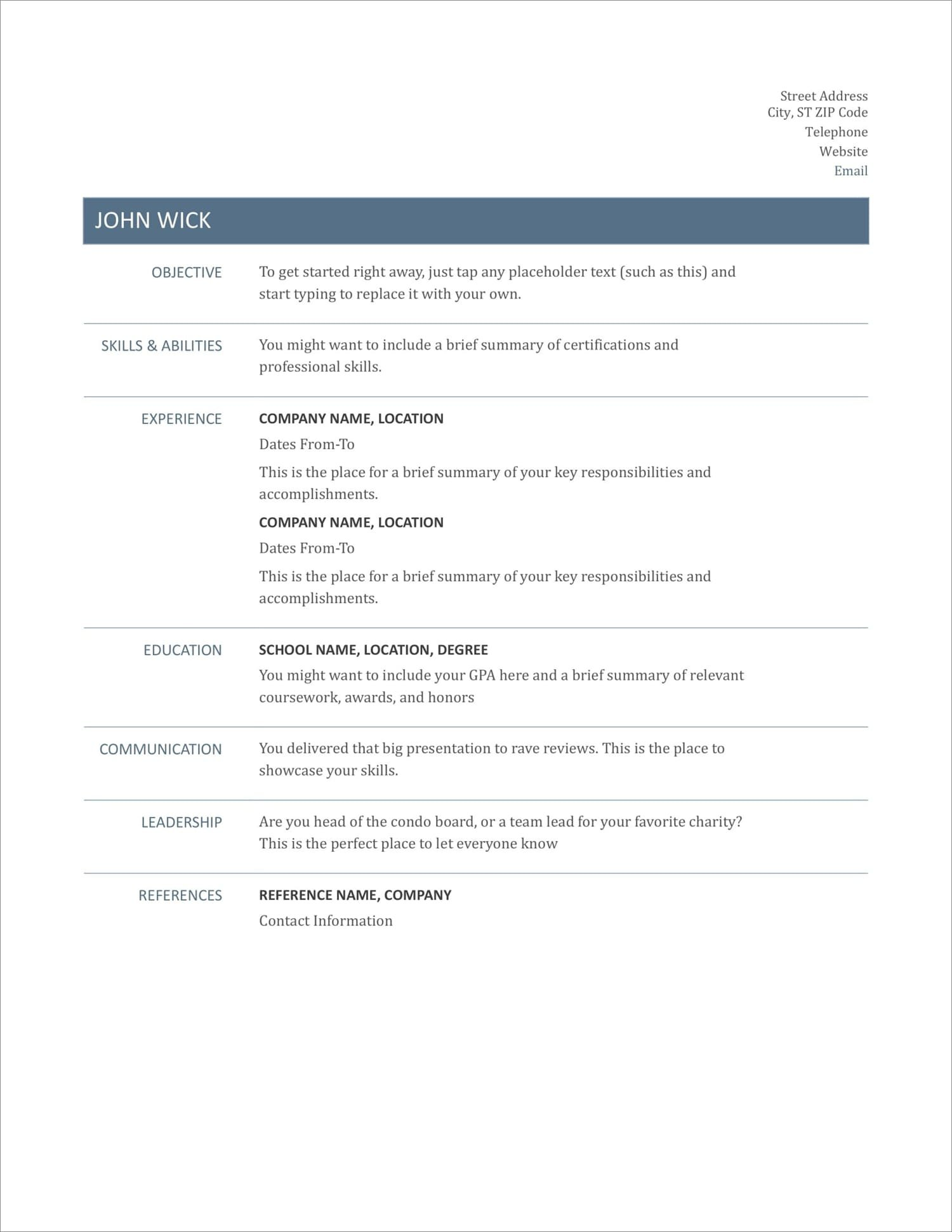 17 Free Resume Templates For To Download Now