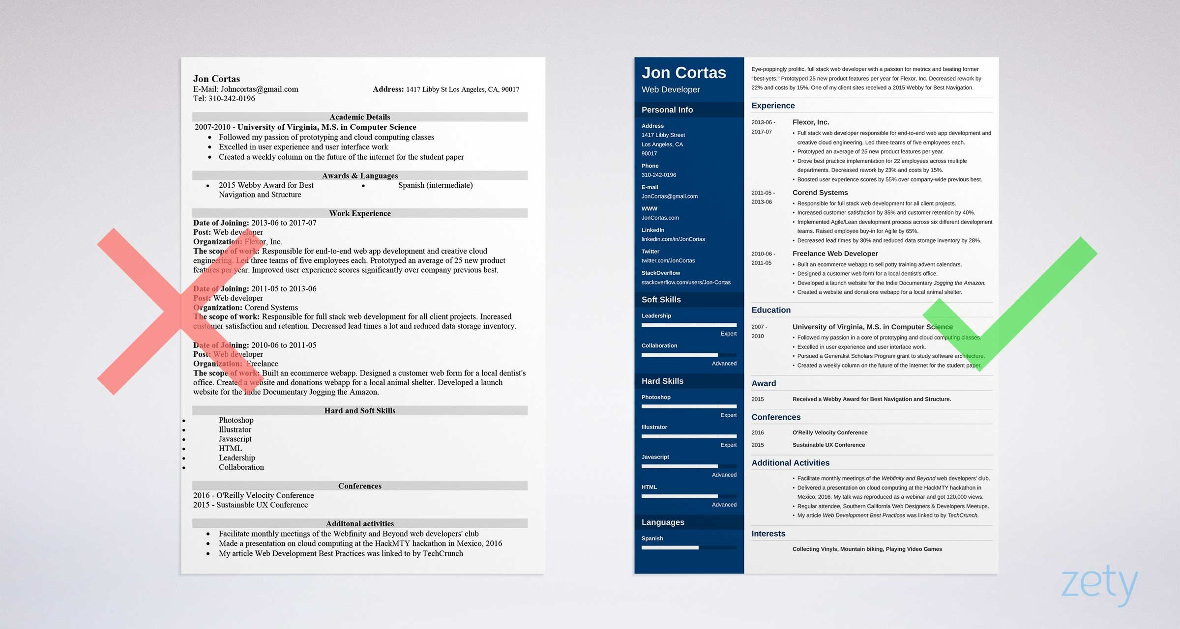 Good Resume Templates 15 Examples To Download Amp Use Right Now
