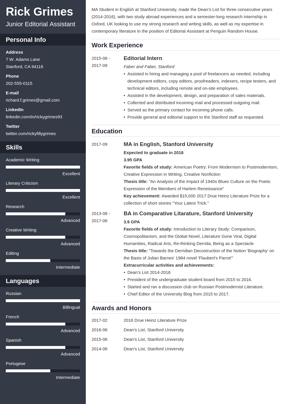 Find out why we are different from them. Graduate Student Resume Example Academic Cv Template For Grads