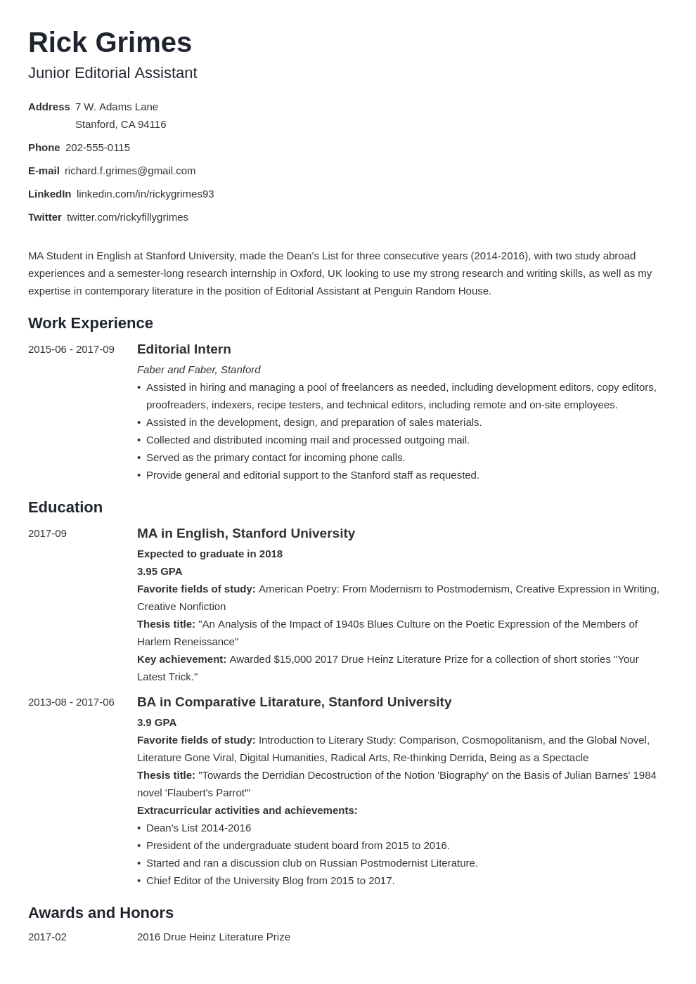 Paying for a masters degree is an expensive thought, but it doesn't have to be thanks to grants and scholarships. Graduate Student Resume Example Academic Cv Template For Grads