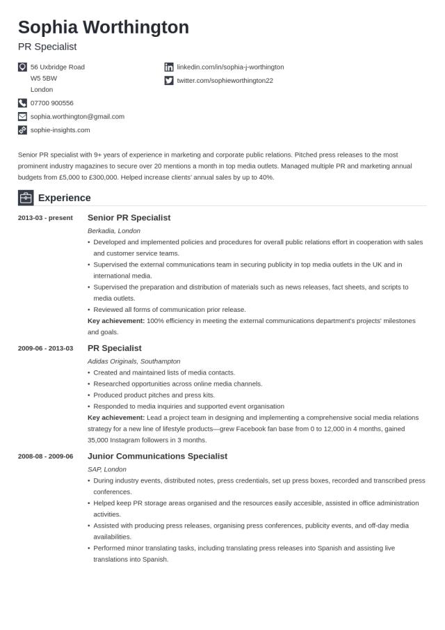 How to Write a Curriculum Vitae (CV) for a Job Application