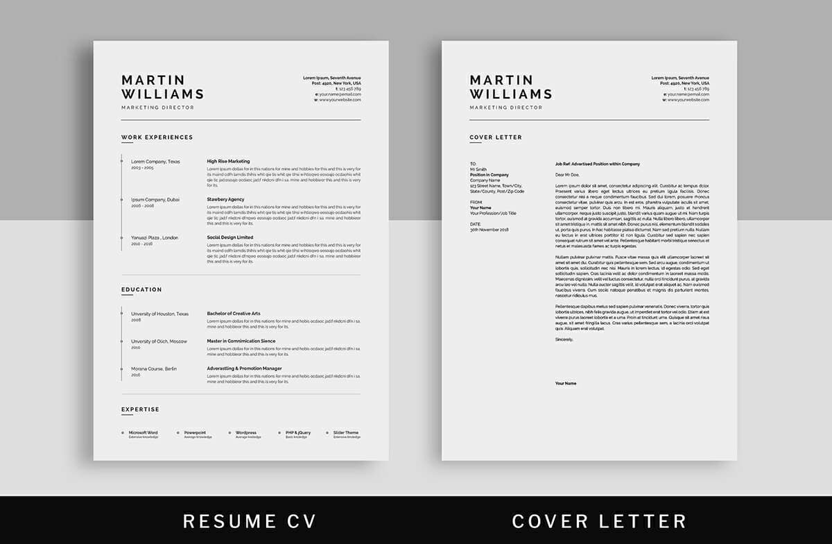 All novorésumé resume templates are created with applicant tracking systems in mind. 15 Clean Minimalist Resume Templates Sleek Design