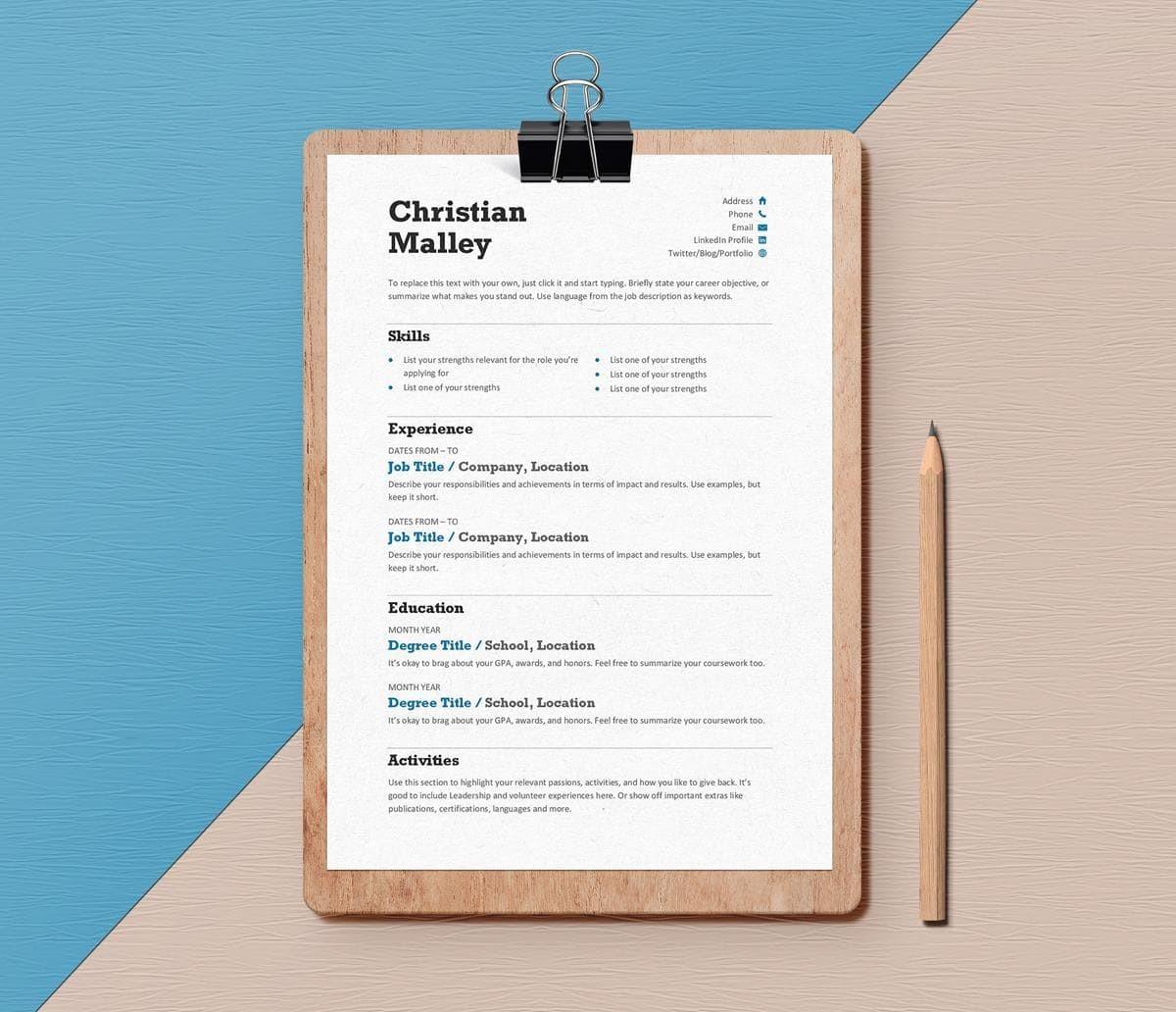 15 Clean Minimalist Resume Templates Sleek Design