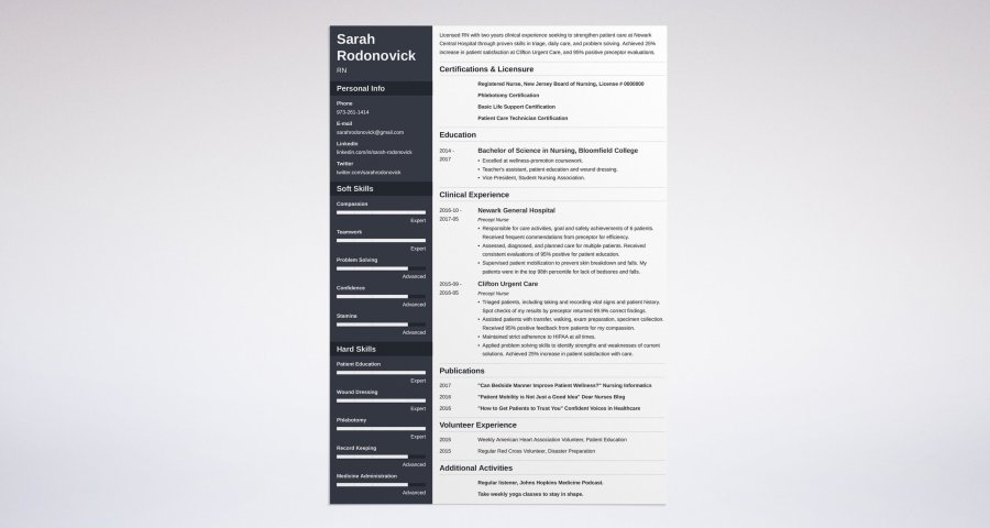Nursing Student Resume  Sample   Complete Guide  20  Examples