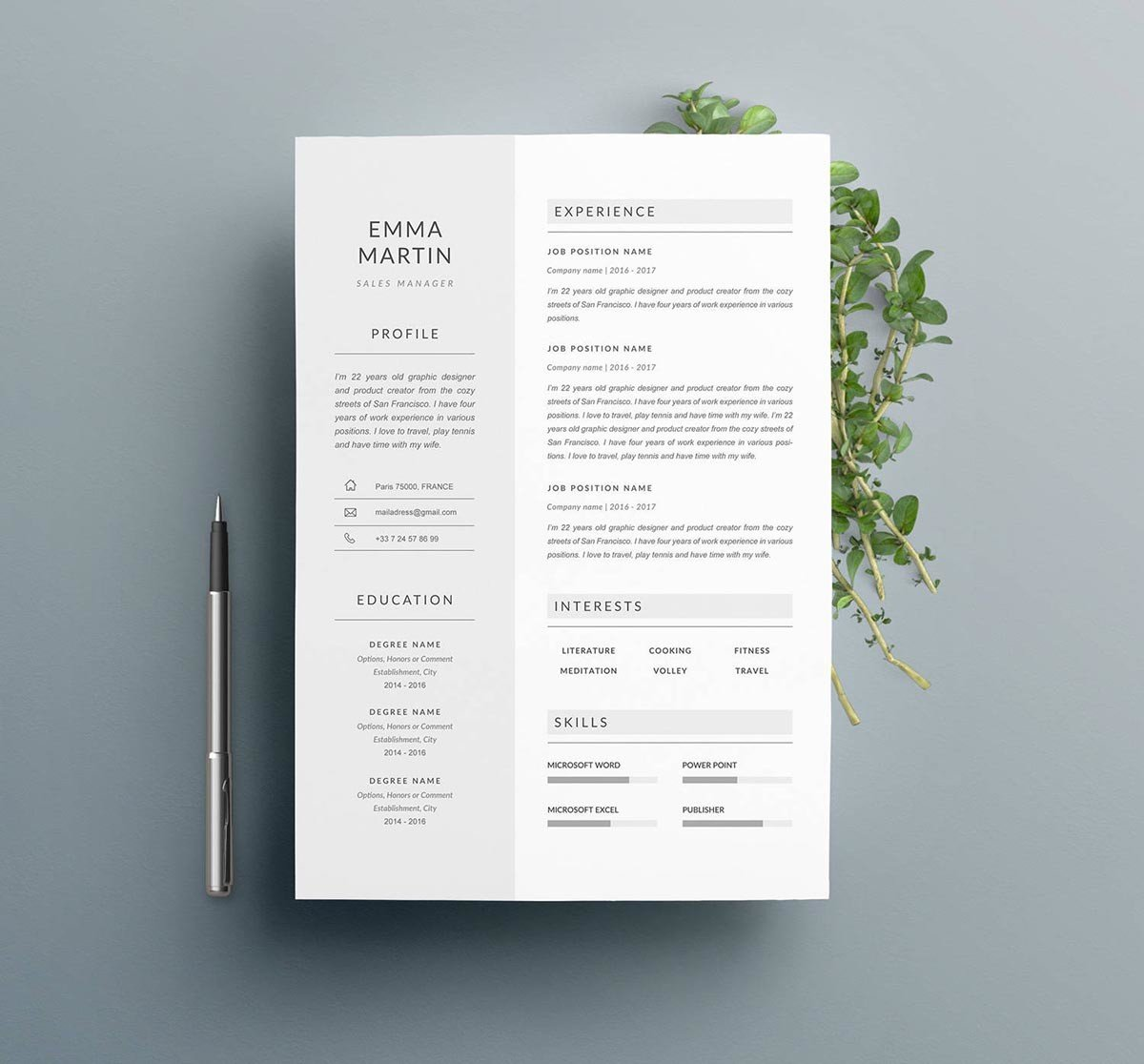 This resume template has a. 13 Photoshop Illustrator Indesign Resume Templates