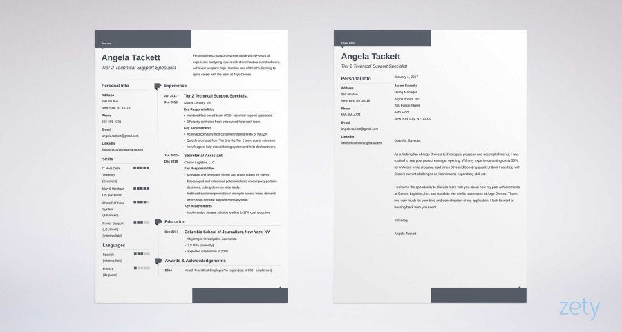 Resume Templates for Word  FREE   15  Examples for Download modern resume and cover letter design