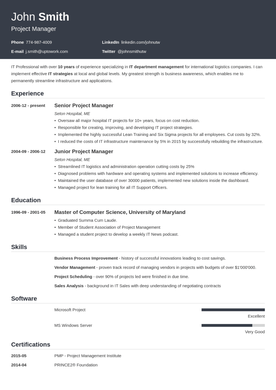 This may seem like a lot of pressure, but getting the right format for a resume is easier than it seems at first. 20 Professional Resume Templates For Any Job Download