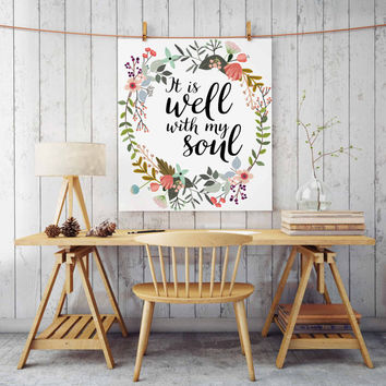 Printable Art Is Within Her She Will Not Fall Nursery Verse Decor Scripture