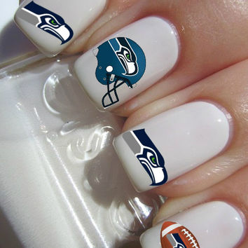 Seattle Seahawks Nfl Football Nail Decals Tattoos Art