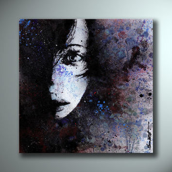 Modern Painting On Canvas Graffiti Art Spray Paint Wall