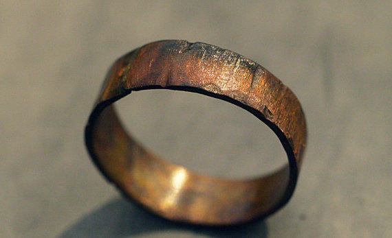 Custom Copper Ring Band For Men Women From