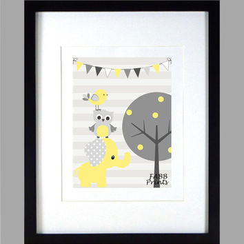 Baby Room Designs On Colorful Yellow And Gray Nursery Design