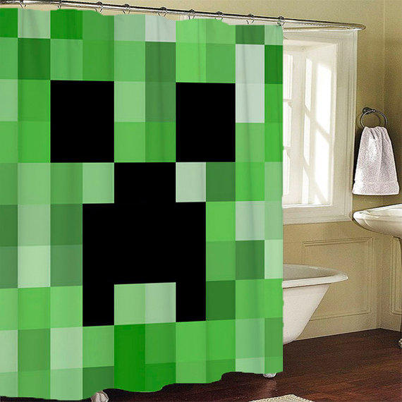Minecraft Creeper Shower Curtain From LeatriceCurtain On Etsy