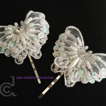 shop butterfly hair pieces on wanelo
