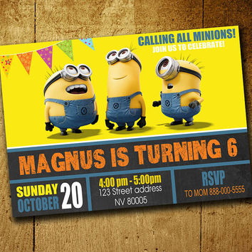 minion birthday invitation