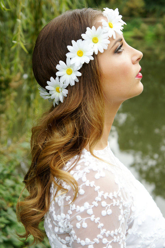 Daisy Chain Flower CrownGarland Halo From FairyRingsShop On