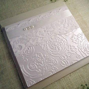 Spring Wedding Invitations Stamped And Embossed