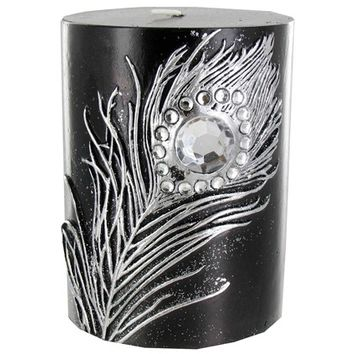 """3"""" x 4"""" Black Candle with Metallic Silver from Hobby Lobby on Candle Globes Hobby Lobby id=37771"""