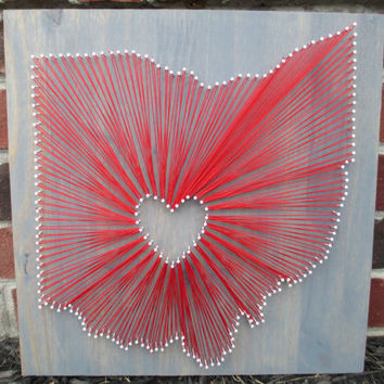String Art State Any Ohio Buckeyes Home Is Where The Heart