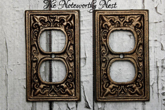 Cast Iron Outlet Covers // Light Switch From The