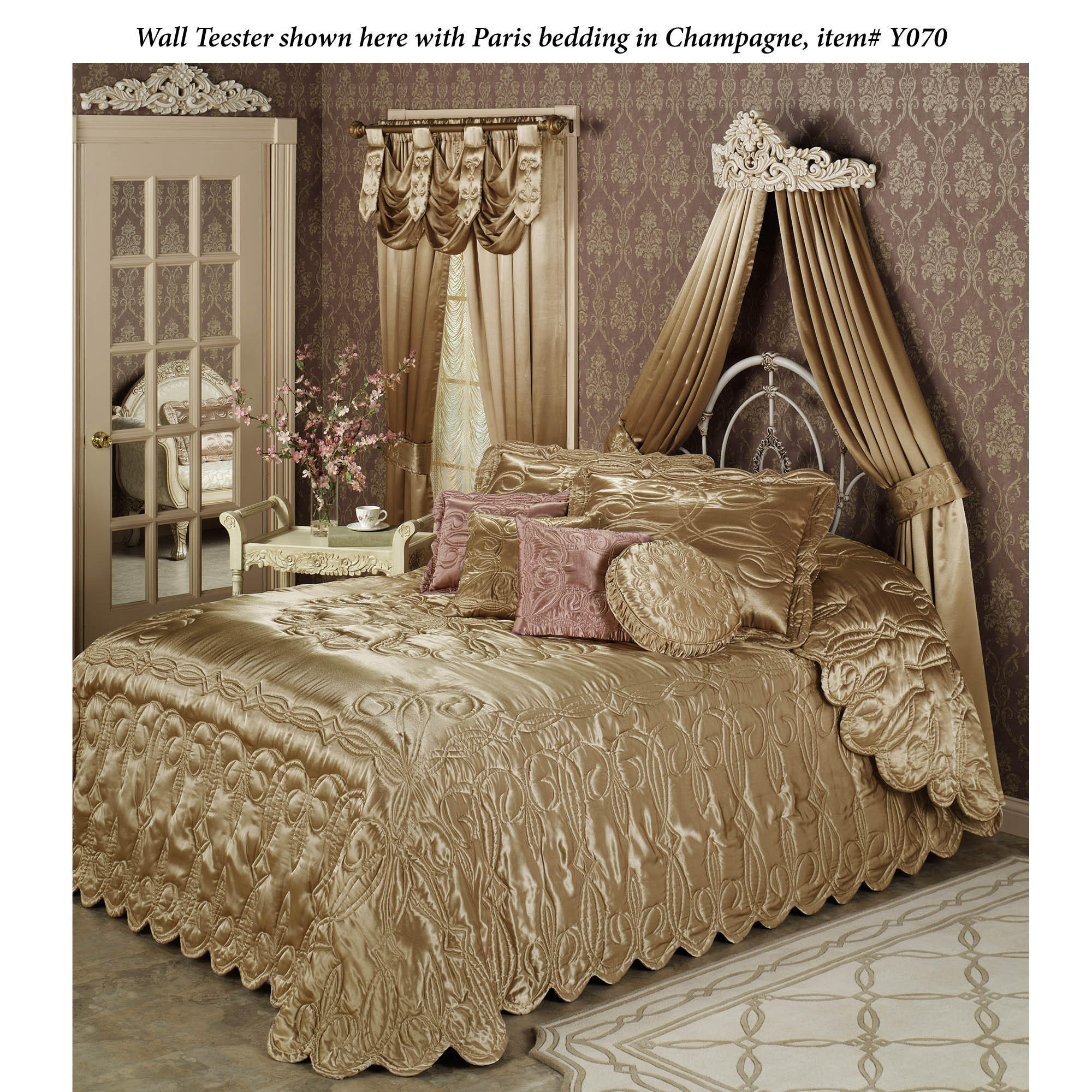 Viviana Wall Teester Bed Crown from touchofclass.com | Epic on Wall Teester Bed Crown  id=90239