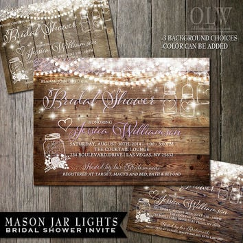 Rustic Bridal Shower Invitations On Wanelo