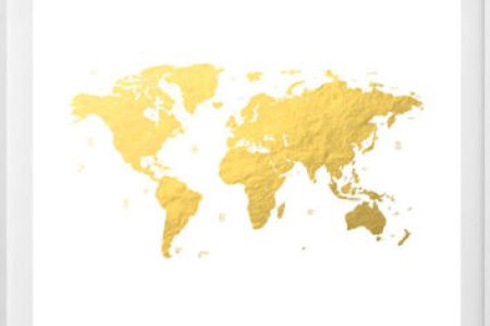 Gold foil world map framed path decorations pictures full path cheap vintage retro framed gold foil blaeu wall map of old and new image is loading cheap vintage retro framed gold foil blaeu wall vintage world gold gumiabroncs Choice Image